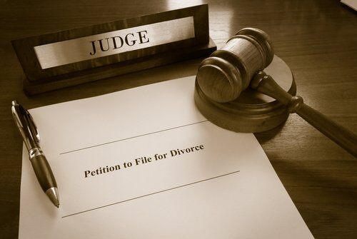 Judge looking on petition to file for divorce